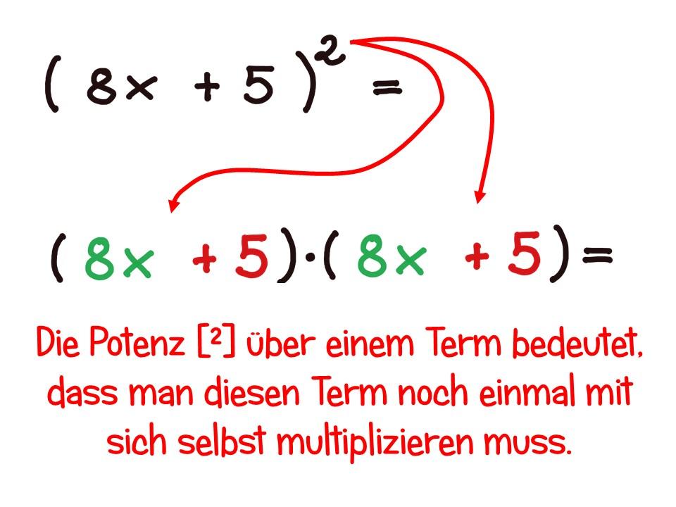 Terme multiplizieren mit binomischen Formeln